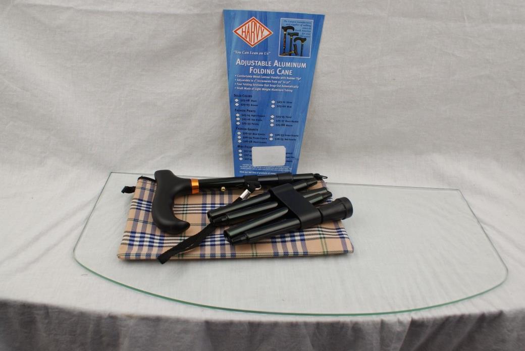 Harvy Canes Mini Folding Adjustable Aluminum Black CZ12