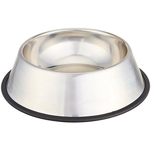 Stainless Steel Dog Puppy Placemat Pet Cat Dish Bowl Feeding Food Bowl