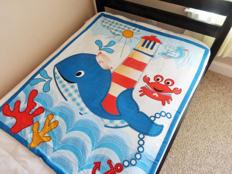 Nautical Baby Quilt, Nautical Toddler Quilt