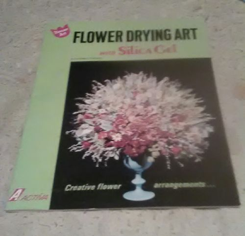 flower drying art with silica gel book