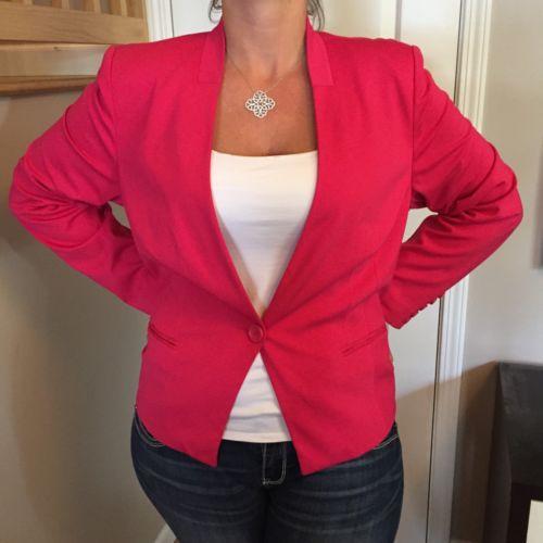 NWT INC Pink Suit Dress Jacket Womens Plus Size 2x Retails $100
