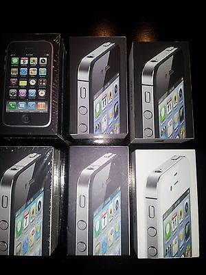 Six 6 Apple iPhone 3GS 32GB 4 8GB 4 8GB 4 16GB 4 16GB 4s 16GB Box And Manuals