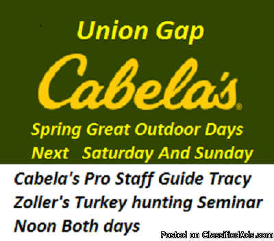 Cabela's Free Turkey hunt Seminar March 25 26