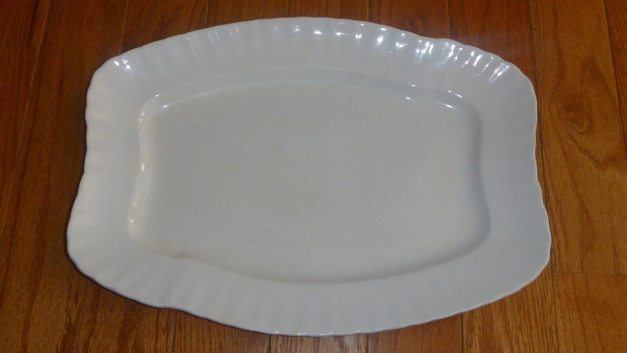 ANTIQUE  WHITE IRONSTONE  CHINA PLATTER W.H. GRINDLEY & CO. ENGLAND 1890s