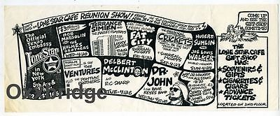 THE VENTURES Dr John JR WALKER ALL STARS James Brown CRICKETS Lone Star Cafe NYC