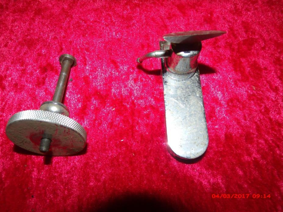 GOOD VINTAGE WATCHMAKER JEWELER  LATHE  TOOL REST POST HOLDER