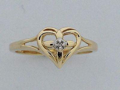 Natural Diamond Ring Solid 10kt Yellow Gold