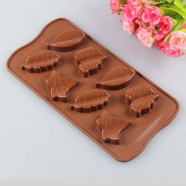 Leaf Leaves Silicone Soap mold Candy Chocolate Fondant Tray mould ICE Cube Mould