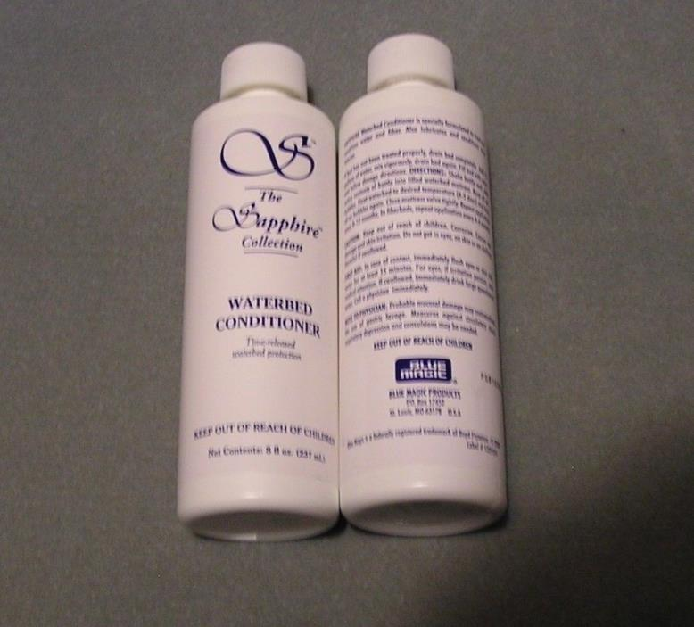 (2) Blue Magic Sapphire Waterbed Conditioner 8 oz BUY 4 GET 2 FREE & A PATCH KIT