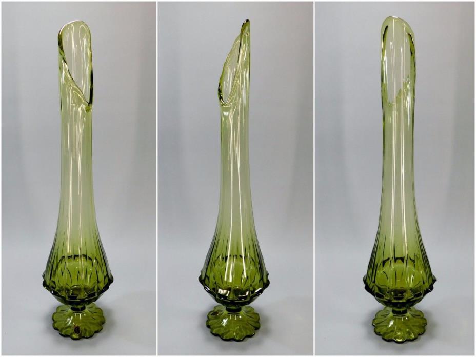 1960's Vintage Mid Century Stretch Vase by Fenton, 22