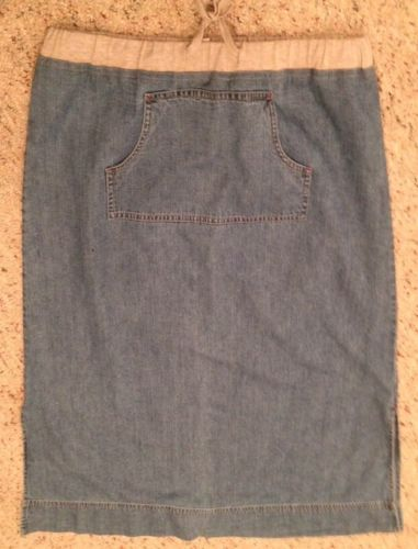 J.Jill Size MP Petite Light Colored Long Denim Jean Skirt