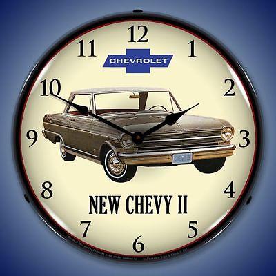 New 1962 Chevrolet Nova 2 old car LIGHT UP clock Fast Free Ship + USA Made