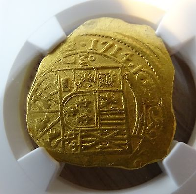 CERTIFIED FULL 4 DIGIT DATE 8 ESCUDOS 1715 PLATE FLEET SHIPWRECK GOLD DOUBLOON