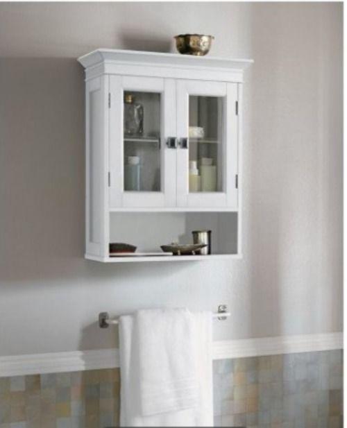Wall Cabinet - Fieldcrest White Bathroom Space Saving