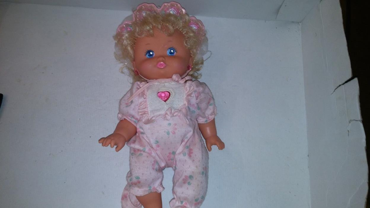 Mattel PJ Sparkles Baby 1989 Baby Doll Figure - Clean