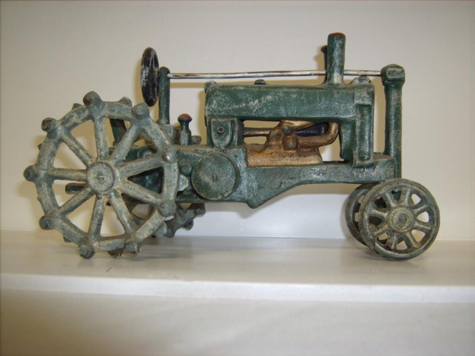 toy tractor ANTIQUE cast iron