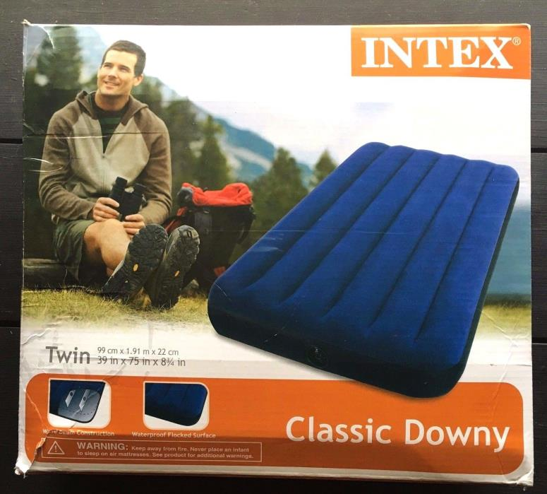 Intex Air Mattress Inflatable Airbed Twin Size Camping or Indoor Classic Downy