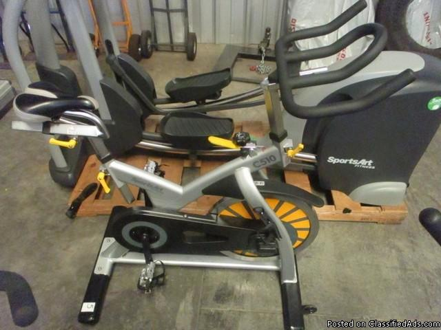 (3) SportsArt Indoor C510 Cycling Bike RTR# 6074770-03