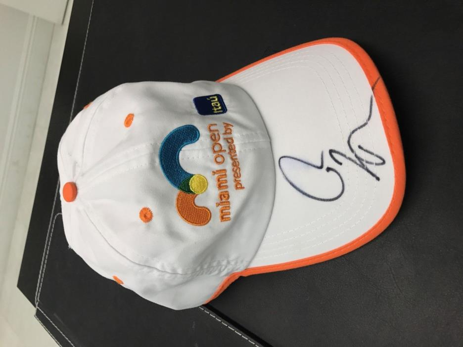 Rafael Nadal Signed Autographed 2017 MIAMI OPEN HAT orange white