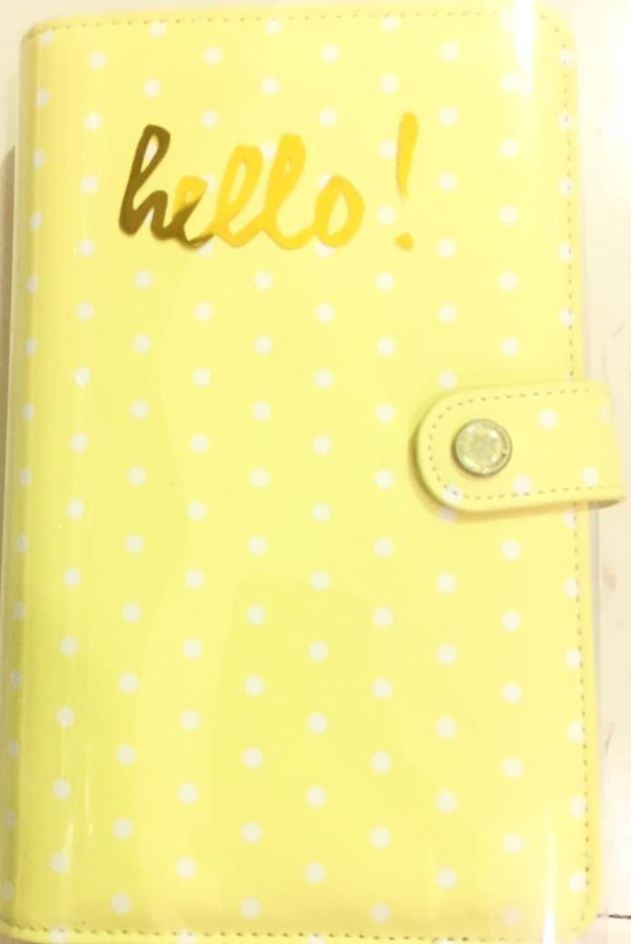 Websters Pages Color Crush Yellow Planner Kit Personal Planner 6 Ring Binder