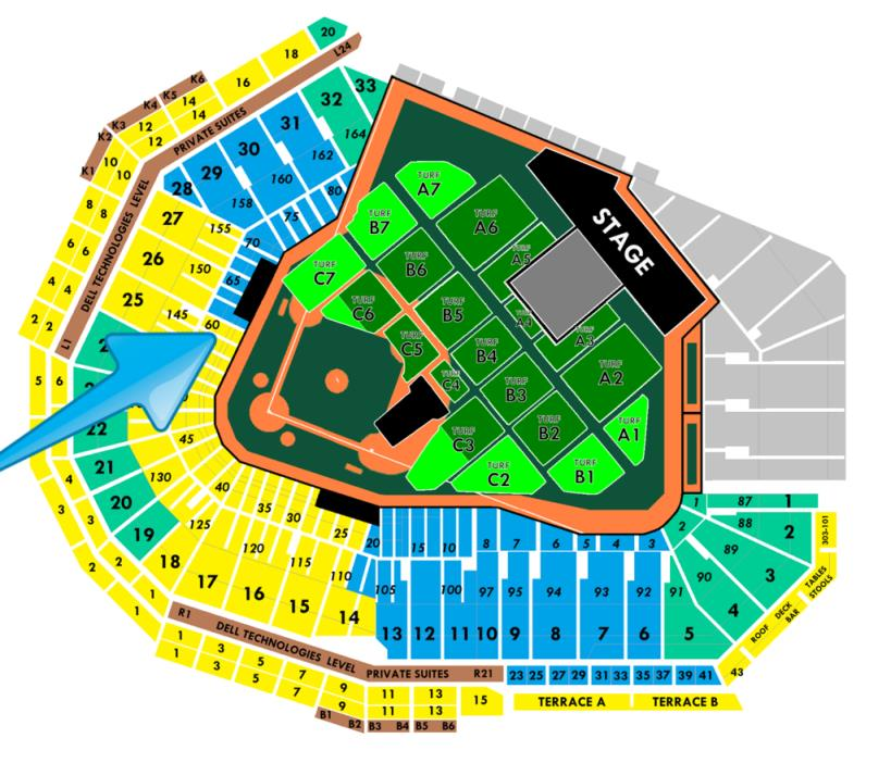 2  Fabulous Tickets *  LADY GAGA Fenway Park BOSTON Friday 09/01 * Field Box 60
