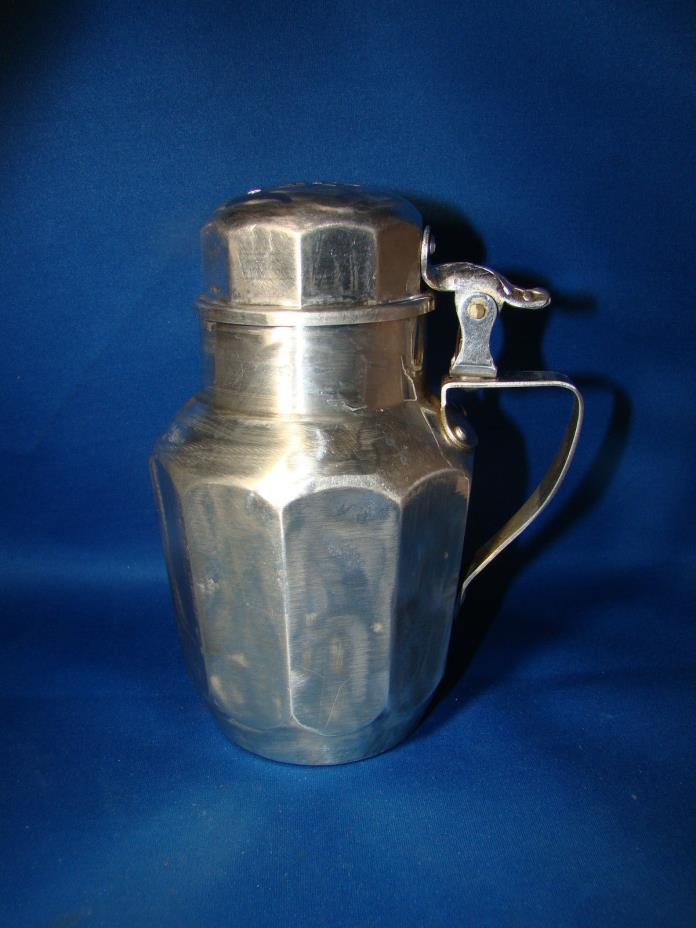VINTAGE Karo ALUMINUM SYRUP PITCHER with Flip LID Spout @26