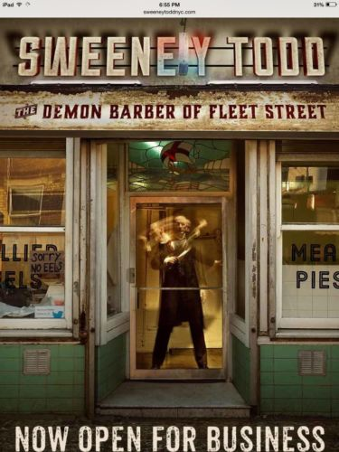 Sweeney Todd at Barrow St Theater - NYC - 3 Tickets for 5/14/17