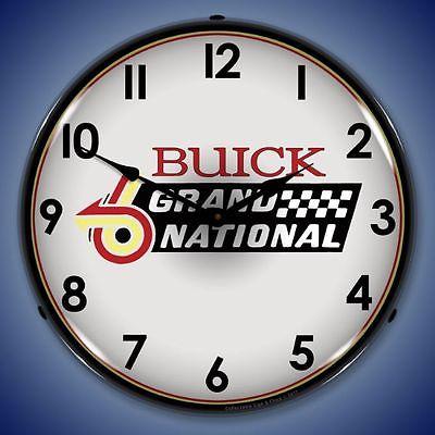 New car racing Buick Grand National Logo LIGHT UP clock  Free Ship + USA Made