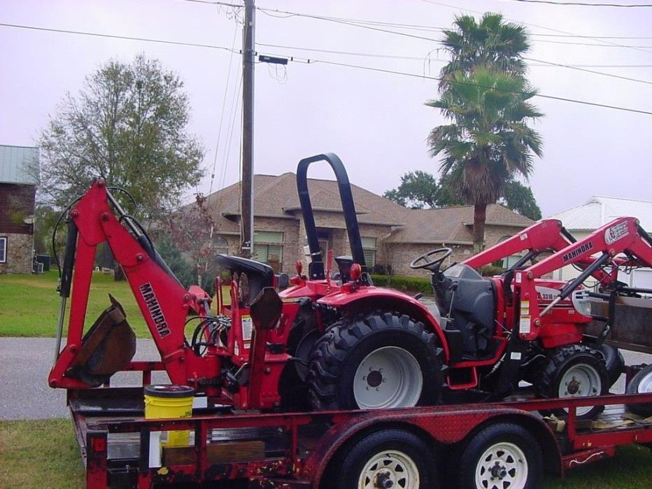 2008 mahindra 3316 tractor and backhoe
