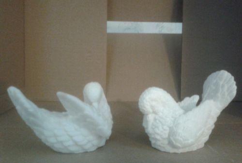 Alabaster Doves Figurines   Vintage Home Interiors