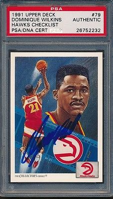 1991/92 Upper Deck #79 Dominique Wilkins PSA/DNA Certified Authentic Auto *2232