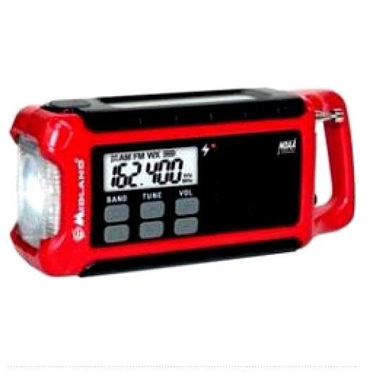 Midland Emergency Crank Radio Hand Crank Dynamo Camping Outdoors Flashlight