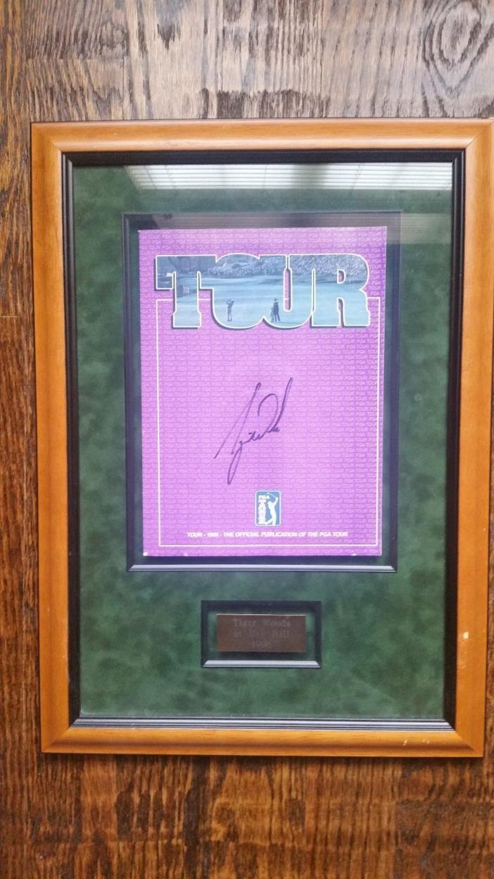 Tiger Woods Signed PGA Publication 1996