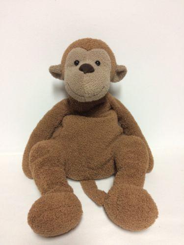 Jellycat London Plush Brown Baby Monkey Stuffed Animal Baby Toy