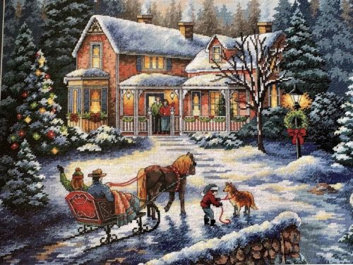 Dimensions Gold COMING HOME FOR THE HOLIDAYS Cross Stitch Kit Nicky Boehme 8733