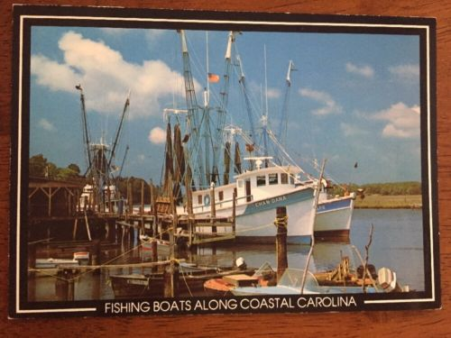 Commercial Fishing Boats Along the Coastal Carolinas North Carolina Postcard