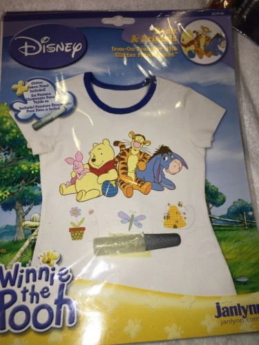 Disney Winnie the Pooh Tigger Eeyore Iron on Transfer for T-Shirt Craft NEW