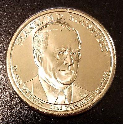 2014-D $1 Franklin D Roosevelt Presidential (Golden) Dollar From Mint Bag (7071)