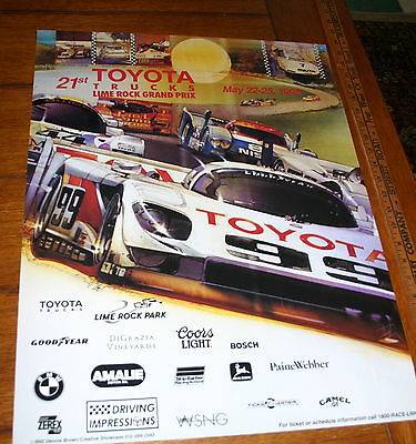 LIME ROCK GRAND PRIX EVENT POSTER 1992 18 X 24 FULL COLOR TOYOTA GTP ARTWORK