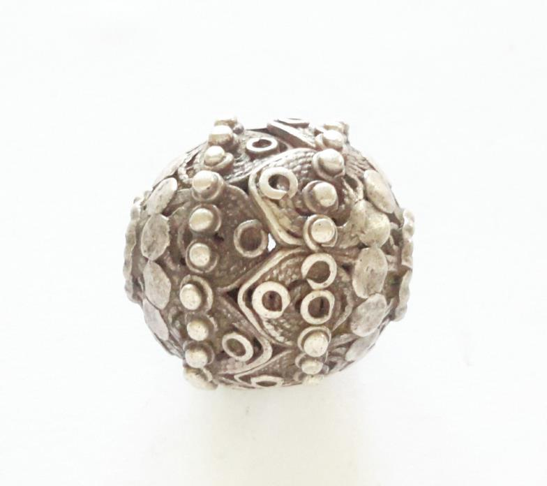 Antique Bedihi Silver Bead from Yemen
