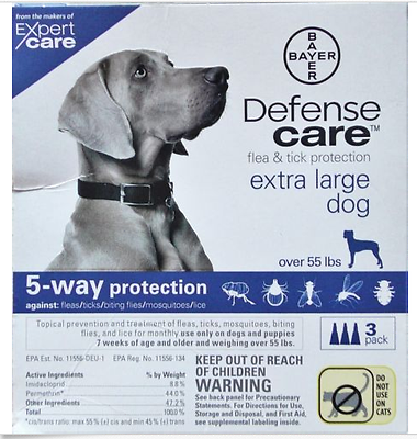 EXPERT CARE DEFENSE FLEA & TICK PROTECTION EXTRA LARGE DOGS OVER 55 LBS