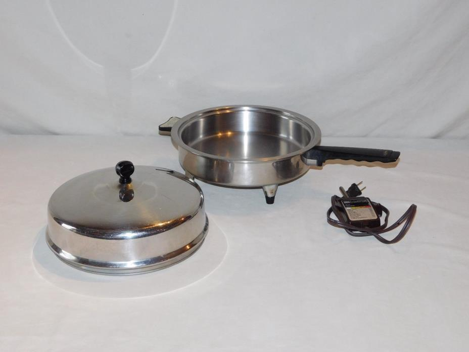 West Bend Lifetime 7905E Stainless Steel Electric Skillet WORKING
