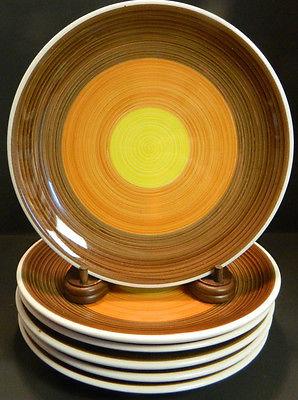 Vintage Set of (6) Syracuse China Syracuse China Yellow, Orange, Brown 9