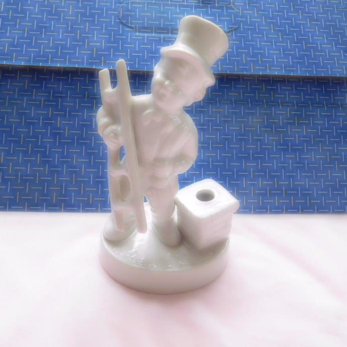 VINTAGE DRESDEN PORCELAIN FIGURINE DEPICTING A CHIMNEY SWEEPER