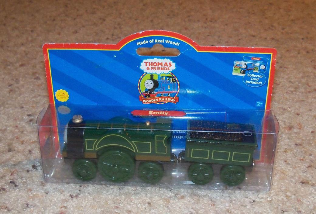 New In Box NIB Thomas Train Wood, Wooden Car Set, Emily, Red Label