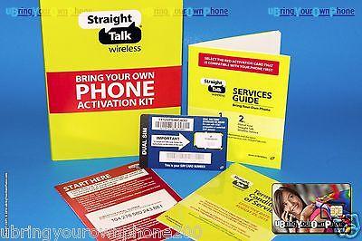 STRAIGHT TALK 4G LTE SIM Card- Samsung Galaxy S5 S4 S3 S2 AT&T Phones BYOP