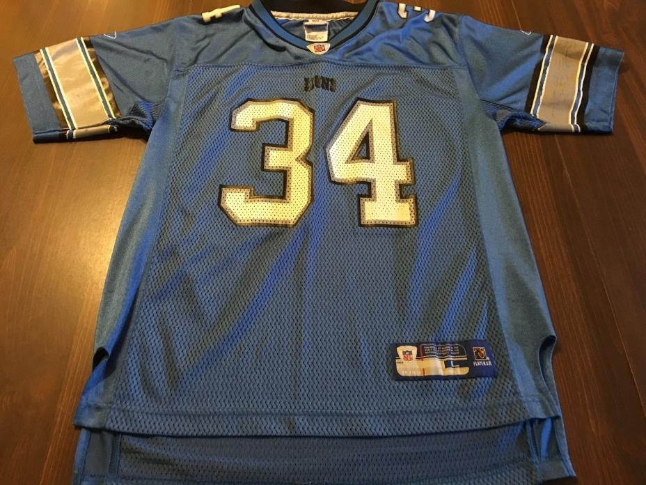 DETROIT LIONS BEAUTIFUL NFL # 34 JONES JERSEY BY NFL PLAYERS YOUTH LARGE 14 / 16