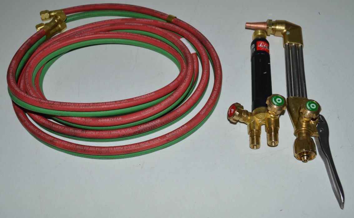 Firepower G350 OxyFuel Oxygen/Acetylene Cutting Welding Torch Head,Mixer,Hose