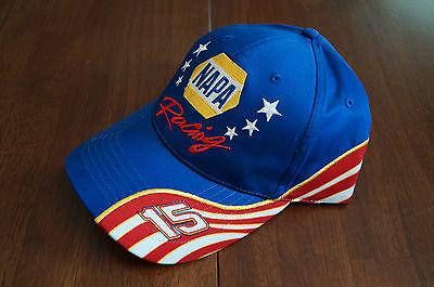 NAPA Racing #15 Patriotic Vintage Nascar Hat Michael Waltrip Earnhardt Sr Inc
