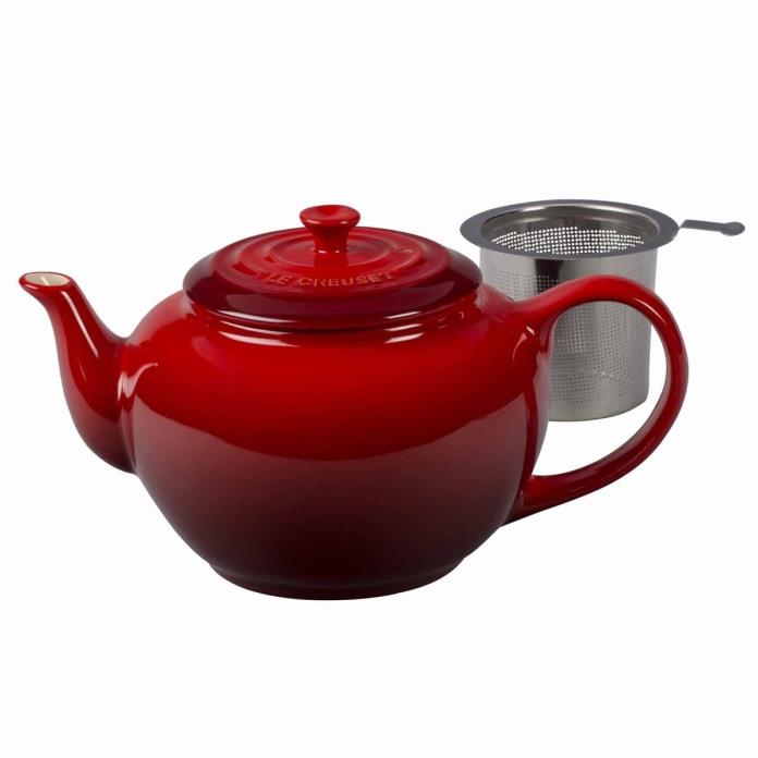 Le Creuset Large Teapot with Steel Infuser, Cherry Red  *NEW**